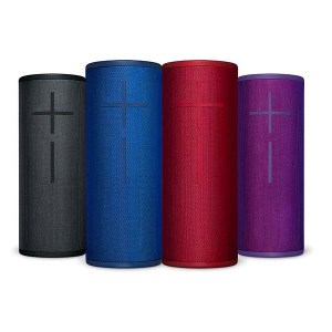 Speaker gifts for music lovers- Ultimate Ears Megaboom 3 Bluetooth speakers in a variety of colors