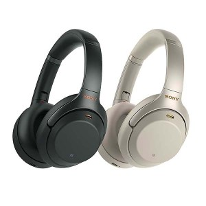 Sony WH-1000XM3 headphones in black and silver