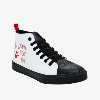 IT Chapter 2 merch- Hot Topic You'll Float Too Hi-Top Sneakers
