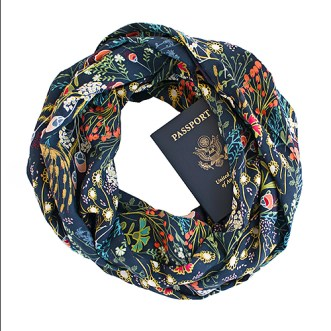 Speakeasy Travel Supply Thea scarf with hidden pocket