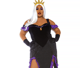 Ladies' Costume- Sultry Sea Witch (Plus-size)