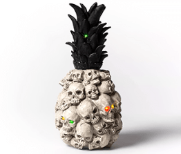 Halloween decor- skull pineapple decor
