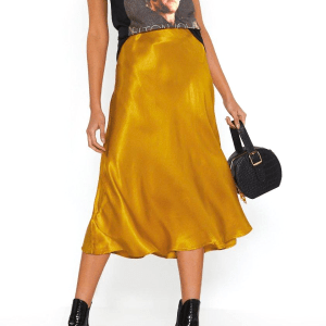 Nasty Gal Sleek Havoc Bias Cut Satin Skirt