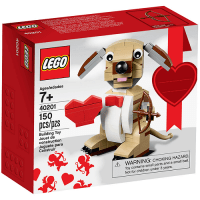 Lego Valentine's Cupid Dog