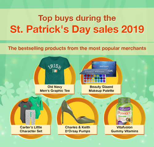 top products bought during the St. Patrick's Day sales 2019