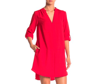 Lush Novak 3/4 Sleeve Shift Dress