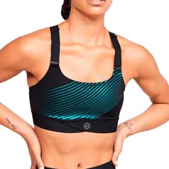 Under Armour Mid Iridescent Graphic Sports Bra