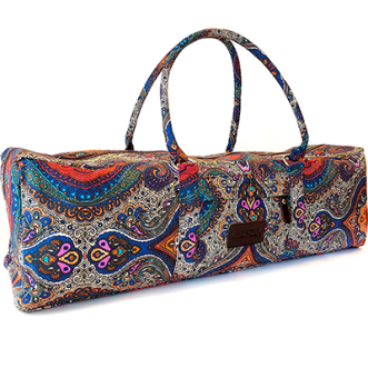 Kindfolk Yoga Mat Duffle Bag Patterned Canvas