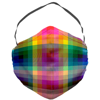 JCRT The 2020 Pride Plaid Face Mask