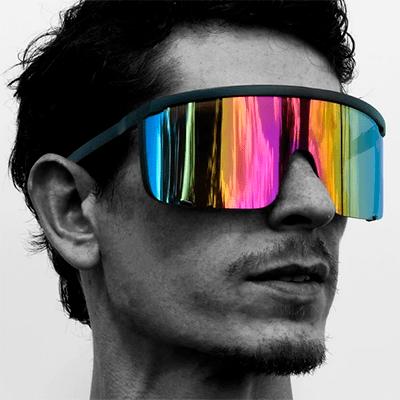 OJO Shades Oversized Shield Mirrored Lens Sunglasses
