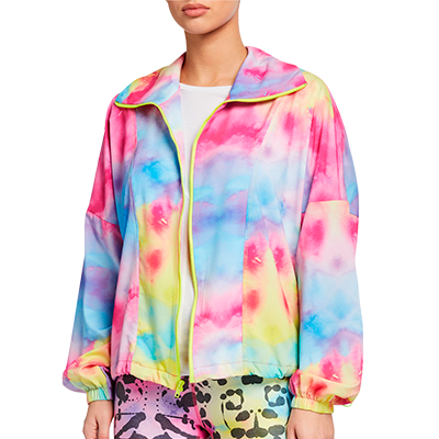 Terez Allover Printed Zip Front Wind Jacket