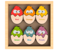 Begin Again Color N Eggs Matching Bilingual Wooden Puzzle