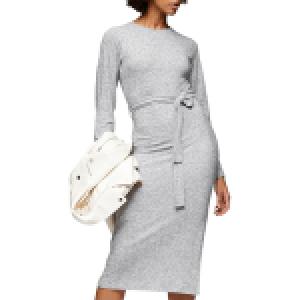 Nordstrom Topshop Long Sleeve Knit Midi Dress
