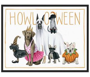 Grace Popp Howloween Canvas Framed Wall Art