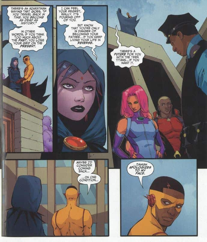 Teen Titans 13_Raven and Kid Flash