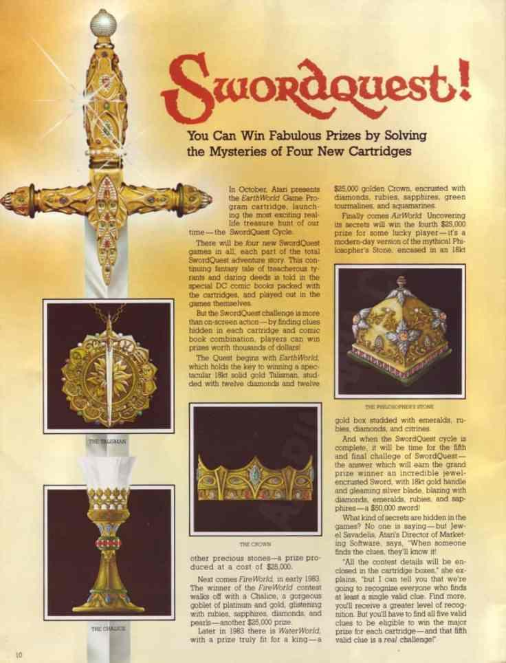 Swordquest Prizes