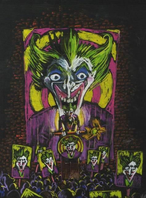 Joker Zeichnung von Tim Burton von 1989