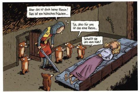 Émile Bravo: Das tapfere Prinzlein und die sieben Zwergbären