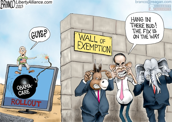 Politicians Exempt From ObamaCare