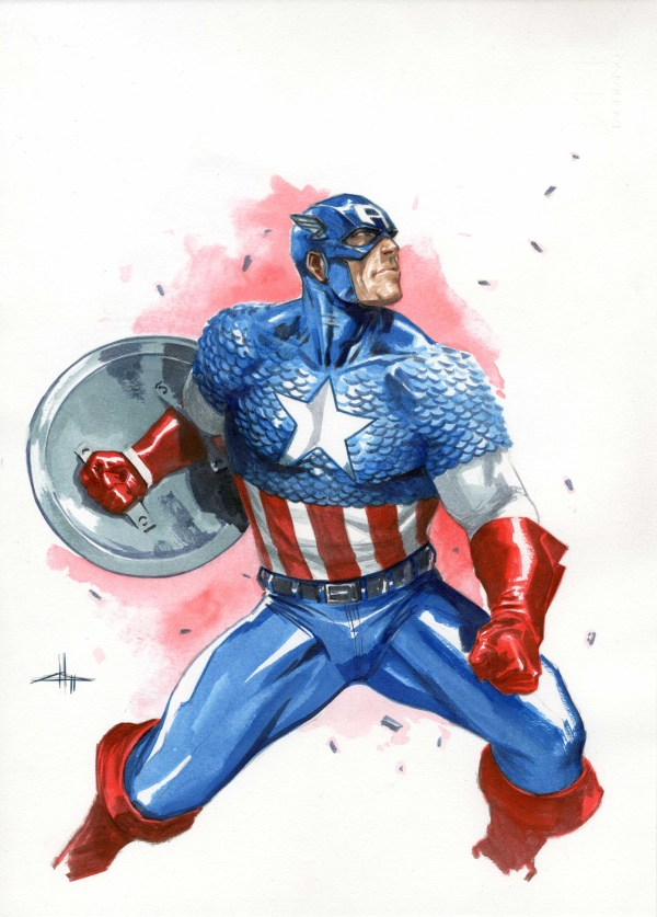 Captain America Marvel Comics Art