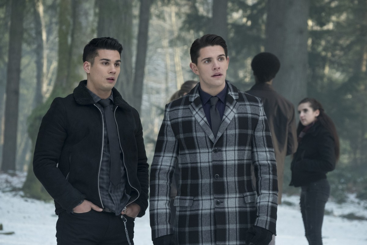 Drew Ray Tanner as Fangs Fogarty and Casey Cott as Kevin Keller - Riverdale