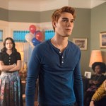 """Riverdale -- """"Chapter Thirty-Five: Brave New World"""" -- Pictured (L-R): Robin Givens as Sierra McCoy, Camila Mendes as Veronica, KJ Apa as Archie, Ashleigh Murray as Josie and Charles Melton as Reggie"""