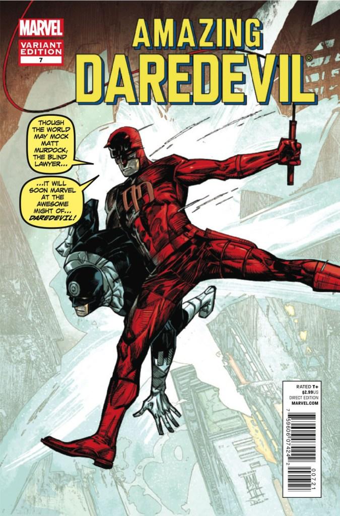 Daredevil doing Spider-Man