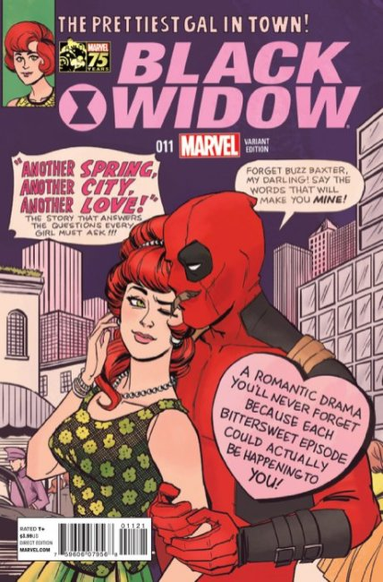 Black Widow (2014) #11 (Marvel 75th Anniversary Deadpool Variant)