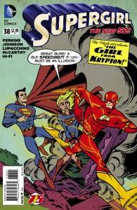 Supergirl Vol 6 38 (Flash 75th Anniversary Cover)
