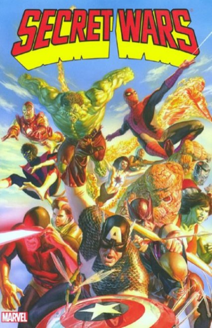 Secret Wars TPB 6th Print Alex Ross Cover