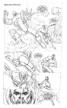 Youngblood Bloodsport #2 Rough Pencils