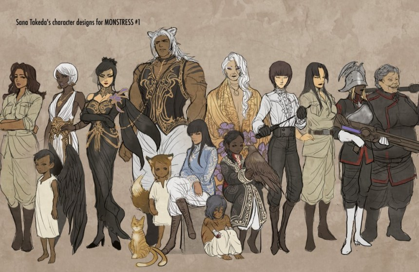 Monstress Character Designs