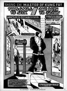 Opening page from Deadly Hands of Kung-Fu #5