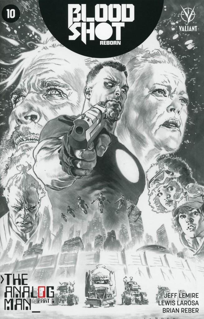Bloodshot: Reborn #8 Black & White Variant