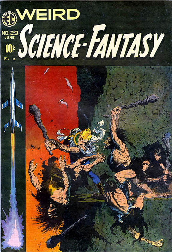 #29 - Classic Frazetta cover, was supposed to be cover to Famous Funnies #217