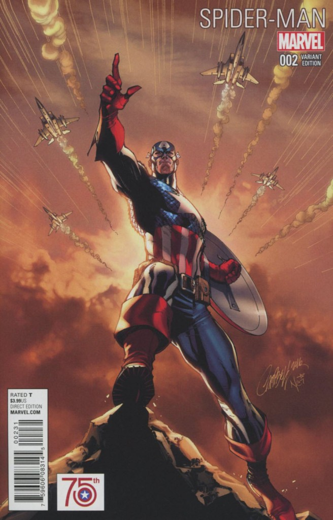 Spider-Man #2 J Scott Campbell Captain America 75th Anniversary Variant