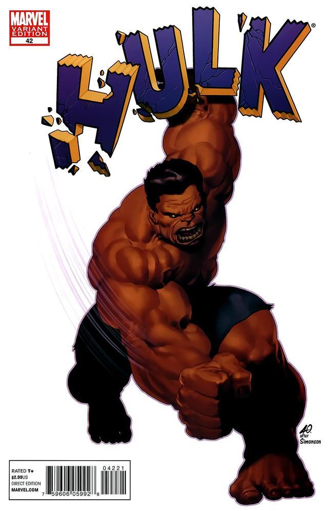 Hulk #42 Ariel Olivetti Marvel 50th Anniversary