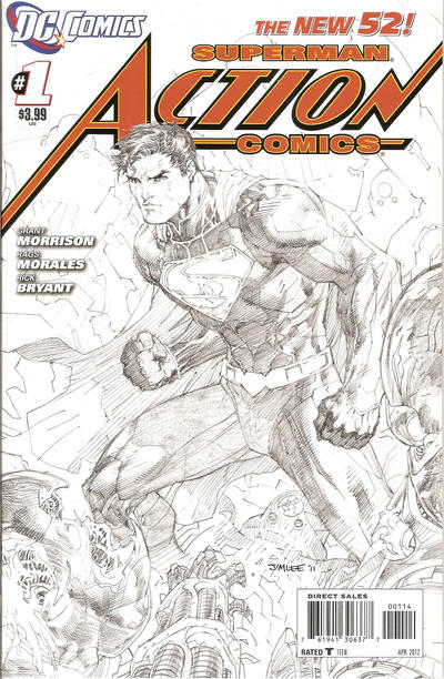 Action Comics #1 Jim Lee Sketch 4th Print
