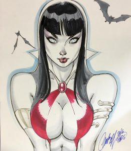 Vampirella Sketch done at the PCE
