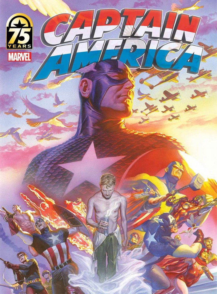Captain America 75th Anniversary Magazine Alex Ross Cover