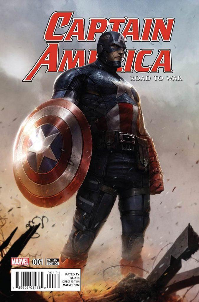 Captain America Road To War #1 Francesco Mattina Cover
