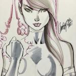 Psylocke sketch finished