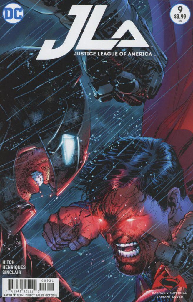 Justice League Of America #9 Jim Lee Batman v Superman Dawn Of Justice Cover