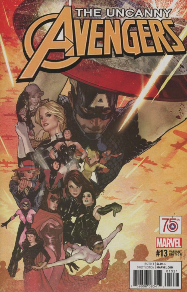 Uncanny Avengers Vol 3 #13 Adam Hughes Captain America 75th Anniversary Variant