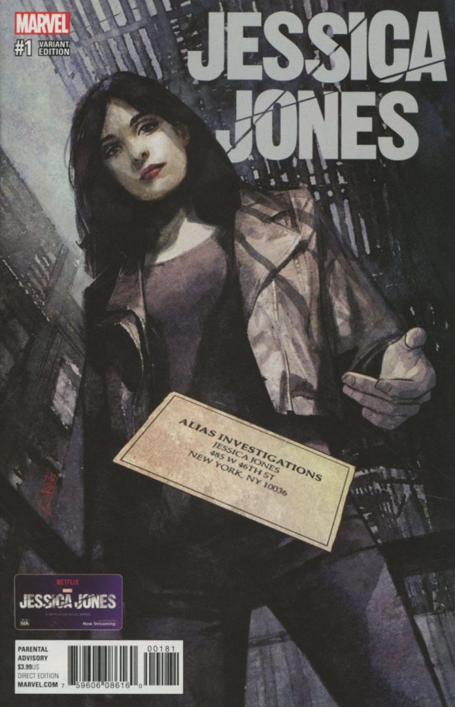 Jessica Jones #1 Alex Maleev 1:50 Variant