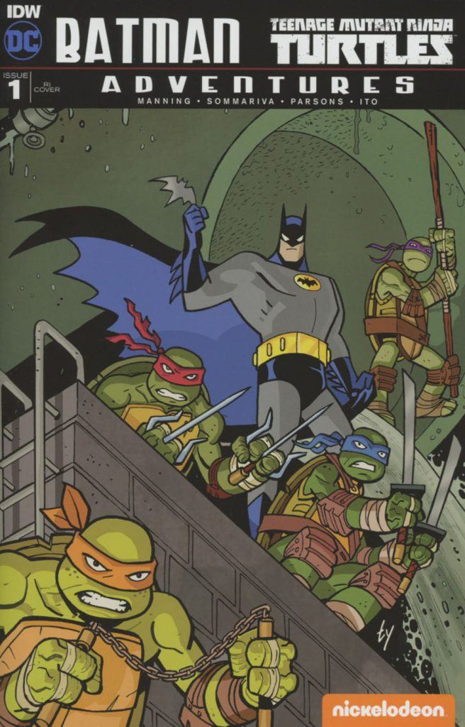 Batman / Teenage Mutant Ninja Turtles Adventures #1 Ty Templeton 1:25 Variant