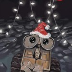 Christmas Wall-E, Turner, Artgerm