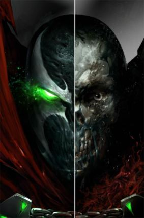 Spawn #285 Cover D Variant Francesco Mattina Split Face Virgin Cover