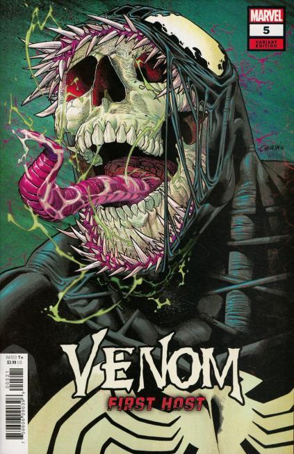 Venom First Host #5 Cover B Variant Javier Garron Cover