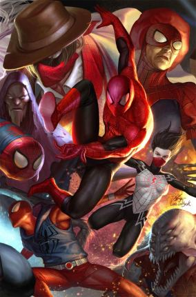 Spider-Geddon #1 Cover B Variant In-Hyuk Lee Connecting Cover